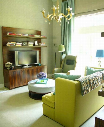 Green colors in paint and decor