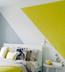 Color blocking is breaking up wall space into sections