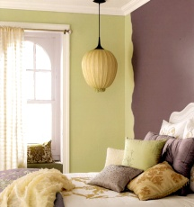 Accent wall edges can be finished off decoratively