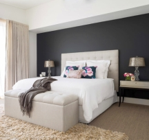 Black accent walls don't look depressing when done right