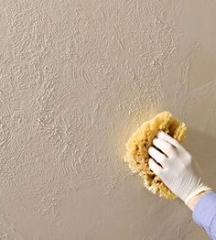 Textured wall painting techniques