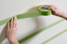 Tape the outside edges of the stripes you'll paint