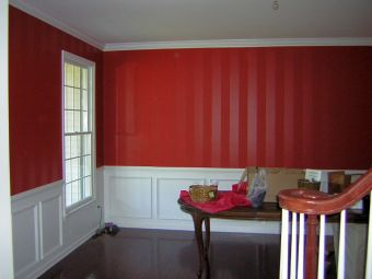 wall stripes in the dining room - Painting Dining Room