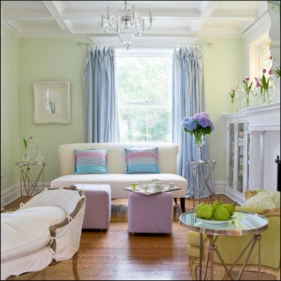 Fully decorated and painted room