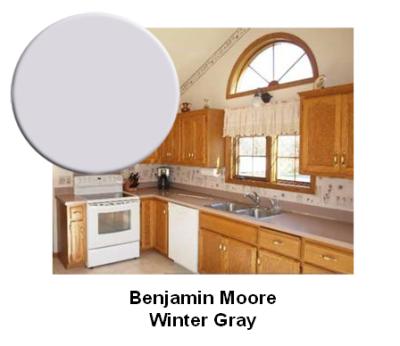 BM Winter Gray paint color