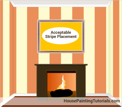 Acceptable simple stripe placement on the wall