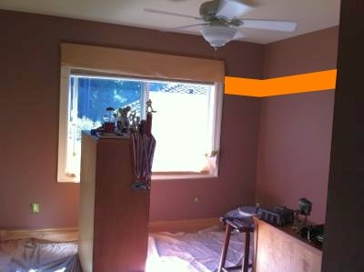 Optimal wall placement of a single horizontal stripe