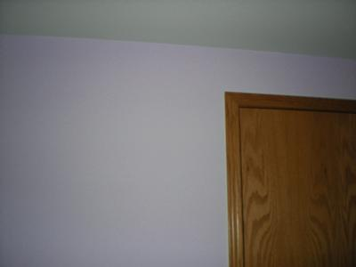 Closeup of the purple wall color