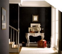 Black walls are the most dramatic painting idea