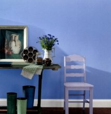 Periwinkle blue walls are a great choice for high energy rooms