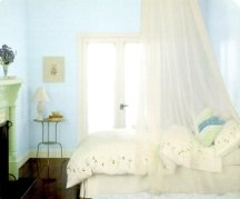 Sky blue walls look peaceful in any room