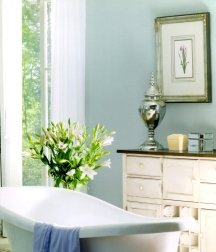 Seafoam green is a good color for painting a bathroom