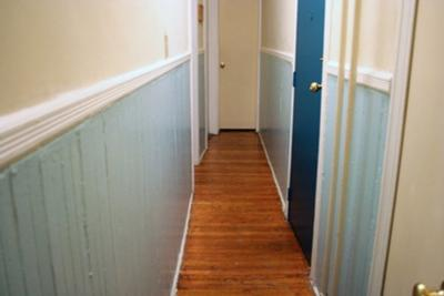 Breaking up a narrow hallway with paint colors Hallway colour scheme ideas