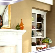 Light brown walls are very easy to live with and decorate around