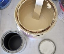 Mix different paint leftovers to make enough paint