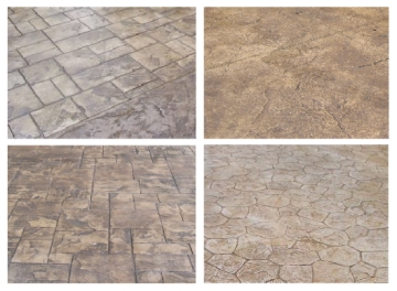 examples of stamped concrete colors