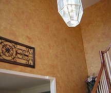 Faux finishes can make walls look decorated