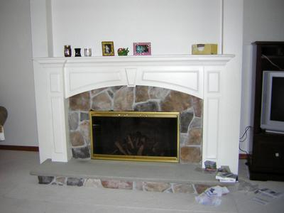 What my living room looked like before painting