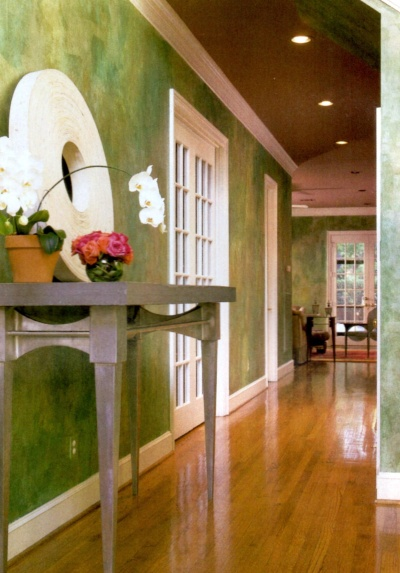 Complex multi-color decorative rag painting effect