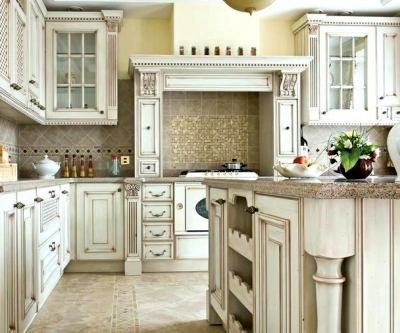 faux painting kitchen cabinet finish - glazing