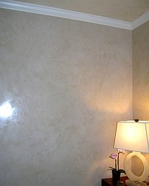 Polished venetian plaster