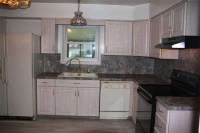 Kitchen as seen from hallway at front door