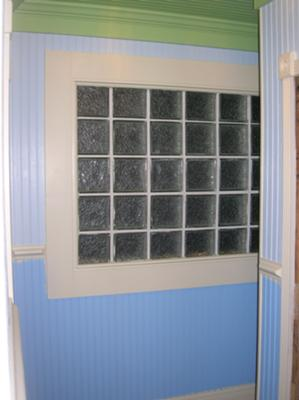Custom glass block window