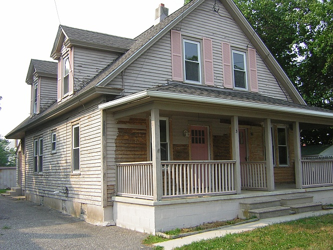 Before: shabby, not chic, house