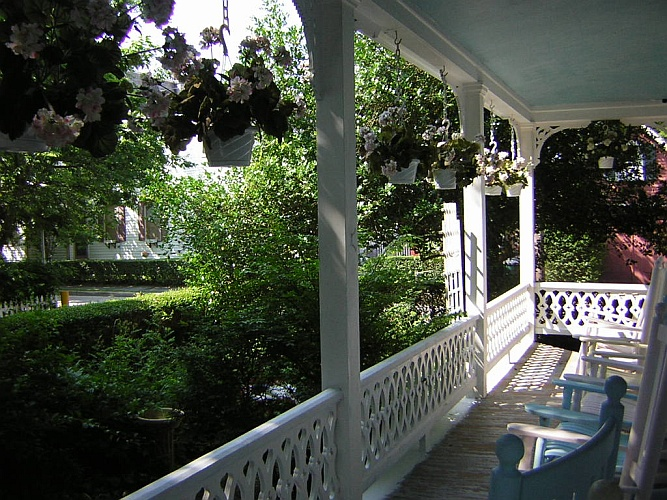 Before: neglected historic porch