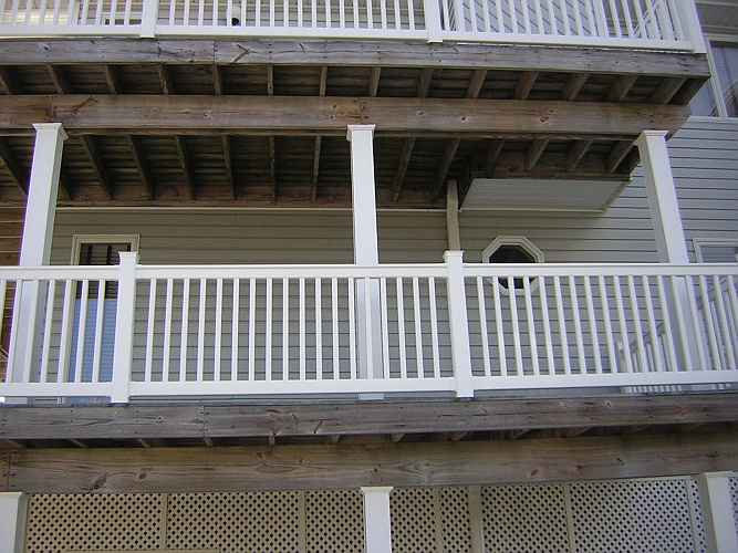 Before: unstained deck