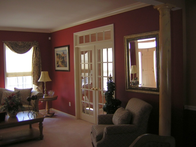 After: red wall color looks rich