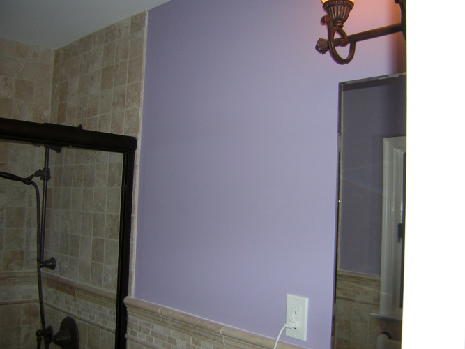 After: interesting wall color