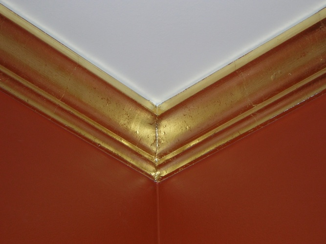 After: gilding and distressing turn molding into something special