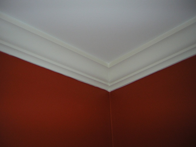 Before: basic crown molding