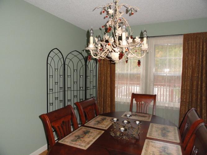 Before: regular paint on dining room walls