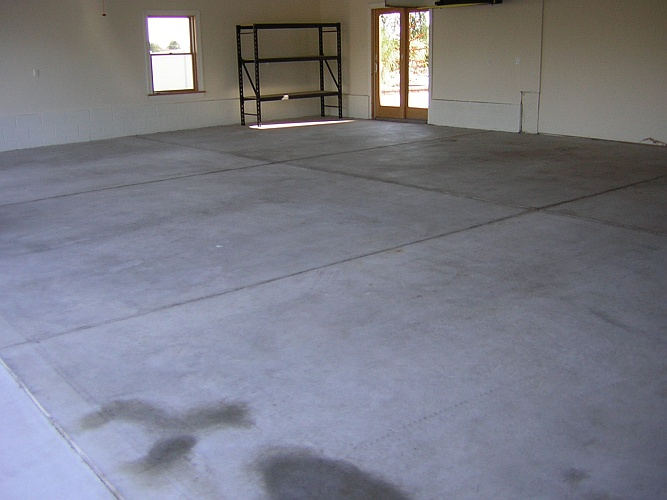 Before: naked concrete floor