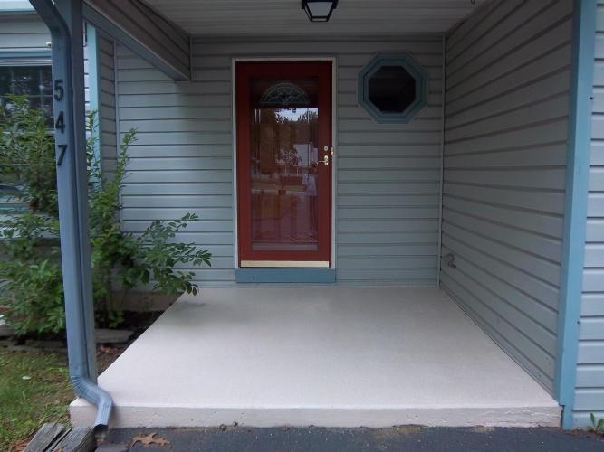After: painted concrete porch