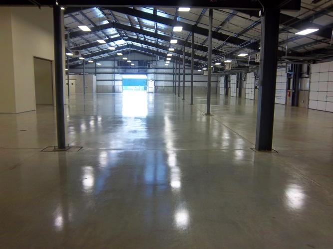 After: sealed concrete floor