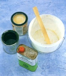 how to mix glaze for sponge painting