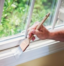 Semi-gloss paint used for window painting