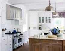 white and blue kitchen design colors