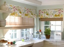 kitchen wall paint color matched to window treatments