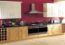 contemporary burgundy kitchen painting idea