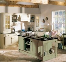 cool neutral country kitchen painting idea