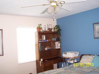 My blue wall paint idea... gone wrong!