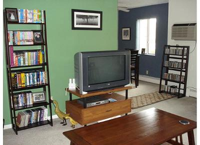 awesome green paint color for accent wall living room | My Green Living Room Accent Wall