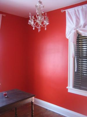 Edge Red paint color on the walls
