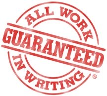All work guaranteed in writing