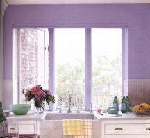 violet paint colors for kitchen walls