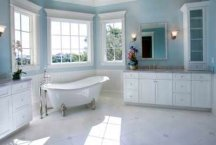 Light blue color idea for painting a bathroom